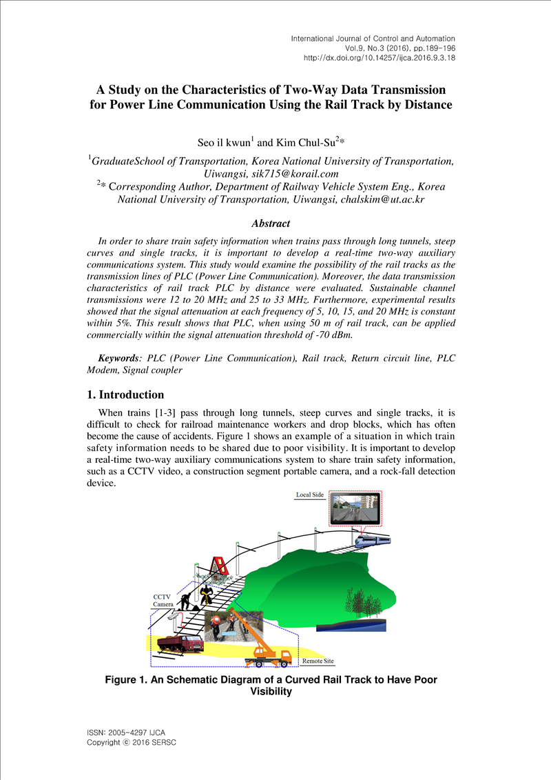 A Study on the Characteristics of Two-Way Data Transmission for